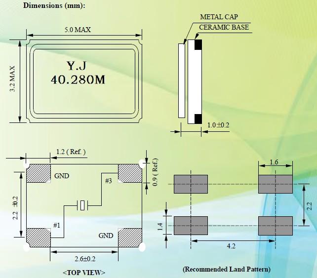 石英晶振5032,有源晶振