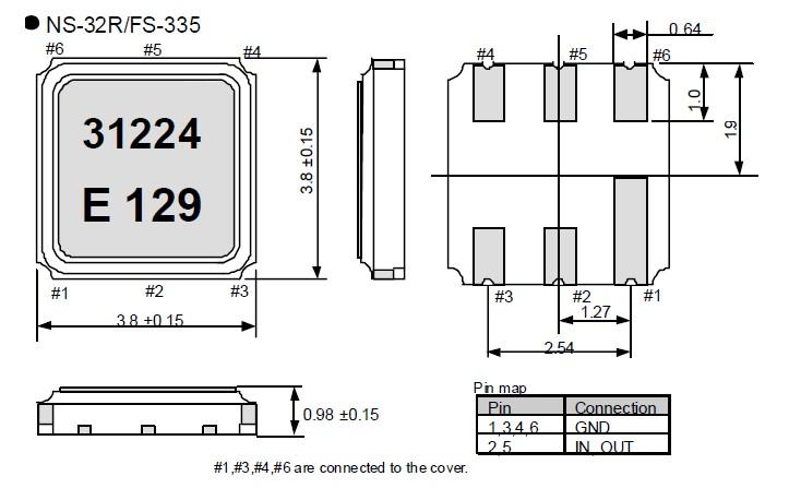 fs-335进口贴片晶振,有源晶振