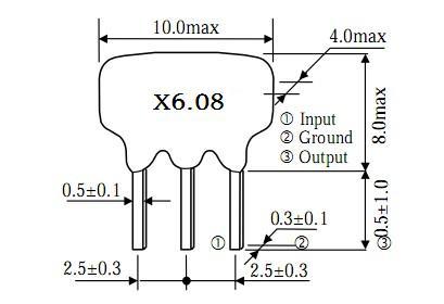 xt6.08陷波器,陶瓷谐振器